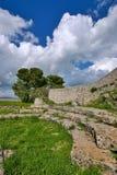 Oude Griekse ruïnes in Akrai Royalty-vrije Stock Afbeeldingen
