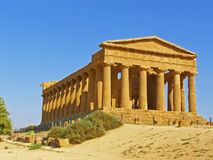 Oude Griekse tempel Royalty-vrije Stock Afbeelding