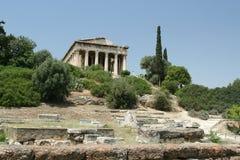 Oude Griekse Tempel Royalty-vrije Stock Afbeeldingen