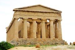 Oude Griekse tempel in Agrigento Royalty-vrije Stock Foto