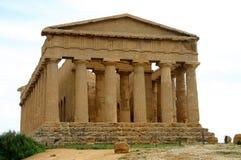 Oude Griekse tempel in Agrigento Royalty-vrije Stock Afbeelding
