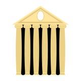 Oude Griekse tempel Architectuur met kolommen Vectorillustra Royalty-vrije Stock Foto