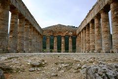 Oude Griekse tempel. Segesta Royalty-vrije Stock Afbeeldingen