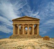 Oude Griekse tempel van Concordia, Sicilië Royalty-vrije Stock Foto