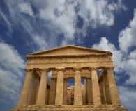 Oude Griekse tempel van Concordia (VVI eeuw BC), Vallei van de Tempels, Agrigento, Sicilië Stock Fotografie