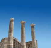 Oude Griekse tempelkolommen Royalty-vrije Stock Fotografie