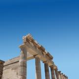 Oude Griekse tempelruïnes Royalty-vrije Stock Afbeeldingen