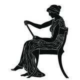 Oude Griekse vrouw royalty-vrije stock fotografie