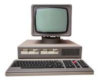 Oude grijze computer royalty-vrije stock foto