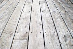 Oude grijze doorstane promenade Royalty-vrije Stock Foto