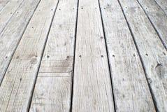 Oude grijze doorstane promenade Royalty-vrije Stock Fotografie