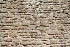 Oude grijze steenmuur Stock Foto's