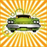 Oude groene auto Royalty-vrije Stock Afbeeldingen