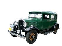 Oude groene auto Stock Foto's