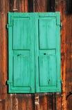 Oude groene blinden Stock Afbeelding