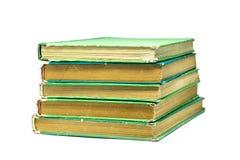 Oude groene boeken Royalty-vrije Stock Foto