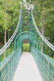 Oude groene brug Stock Foto's