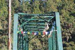 Oude groene brug Stock Foto