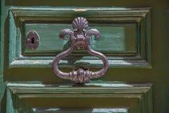 Oude groene deur Royalty-vrije Stock Foto