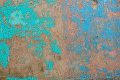Oude groene en blauwe verfbarsten Royalty-vrije Stock Foto's