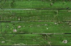 Oude groene houten grungetextuur horizontaal Stock Foto