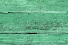 Oude groene houten textuur Stock Foto's