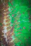 Oude groene metaalplaat Stock Afbeelding