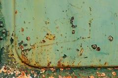 Oude groene verf Stock Foto
