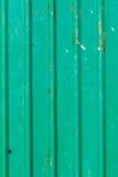 Oude groene zinkmuur Royalty-vrije Stock Foto's