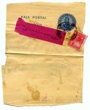 Oude grunge, bevlekte brief Stock Fotografie