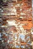 Oude grunge briack muur royalty-vrije stock foto's