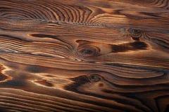 Oude grunge donkere geweven houten achtergrond Stock Afbeeldingen