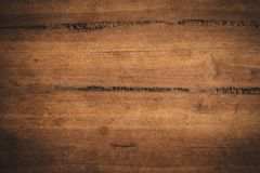 Oude grunge donkere geweven houten achtergrond, de oppervlakte van ol Stock Foto