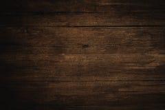 Oude grunge donkere geweven houten achtergrond, de oppervlakte van ol Royalty-vrije Stock Fotografie