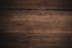 Oude grunge donkere geweven houten achtergrond, de oppervlakte van ol Stock Foto's