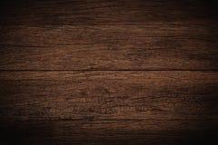 Oude grunge donkere geweven houten achtergrond, de oppervlakte van ol Royalty-vrije Stock Foto