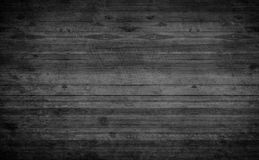 Oude grunge donkere geweven houten achtergrond, de oppervlakte van zwarte Royalty-vrije Stock Foto