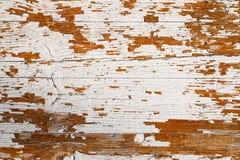 Oude grunge en doorstane witte geschilderde houten de textuurachtergrond van de muurplank Stock Afbeelding
