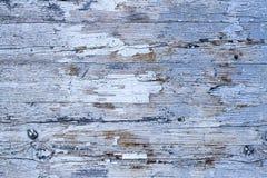 Oude grunge en doorstane witte en grijze geschilderde houten de textuurachtergrond van de muurplank Royalty-vrije Stock Foto's