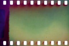 Oude grungefilmstrip Stock Foto's