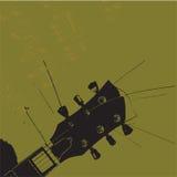 Oude grungegitaar vector illustratie
