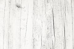 Oude grungy en doorstane witte grijze geschilderde houten de textuurachtergrond van de muurplank duidelijk door lange blootstelli stock afbeelding