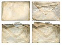 Oude Grungy Enveloppen XXL Stock Foto's