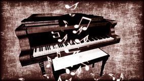 Oude Grungy Piano royalty-vrije illustratie