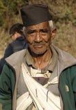 Oude Gurung-Mens stock afbeeldingen