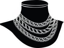 Oude halsband stock illustratie