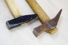 Oude hamers stock afbeelding