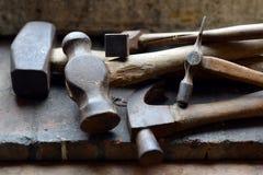Oude hamers royalty-vrije stock fotografie