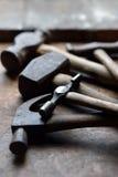 Oude hamers stock foto