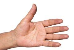 Oude hand royalty-vrije stock afbeelding